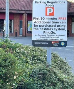 Precinct Car Park Sign